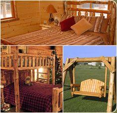 Log cabin furniture on pinterest log furniture rustic for Log cabin furniture store