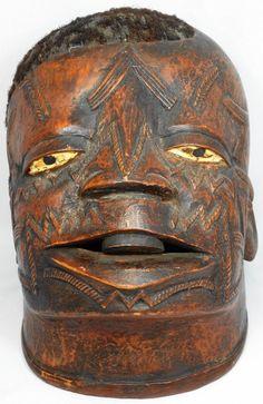 A Makonde initiation helmet mask (Lipico mask) : Lot 159