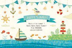 HAPPY SUMMER! by むうめぐ | CREATORS BANK http://creatorsbank.com/sorahana/works/275631