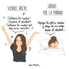 """Ana Marín (@itsanamarin) en Instagram: """"Esta noche la bailaréis y mañana desearéis darle un martillazo... ¡Feliz viernes!"""""""