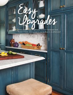 Honeycomb/Hexagon Backsplash! Genius #ClippedOnIssuu from Wayfair @ Home Magazine Home Improvement Issue.