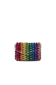 b64cc907a37b TAMBONITA Rainbow Eve Clutch in Multi Designer Totes, Designer Handbags,  Crossbody Messenger Bag,