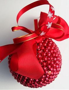 If you love the rich reds that come with Christmas as I do, you will love this red Christmas ornament! Click through to MyWildeHeartUK38.etsy.com