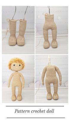 pattern pdf basic doll, crochet doll pattern, diy amigurumi doll - ❤️ my crochet dolls pattern - Etsy Crochet Dolls Free Patterns, Crochet Doll Pattern, Amigurumi Patterns, Doll Patterns, Clothes Patterns, Crochet For Beginners, Amigurumi Doll, Stuffed Toys Patterns, Handmade Toys