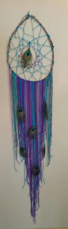 Dream Catcher with Peacock Feathers by ArieMietteOriginals on Etsy