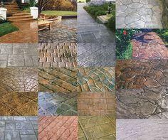 Concrete Stamps Patterns Textures House Exterior Flooring Ideas
