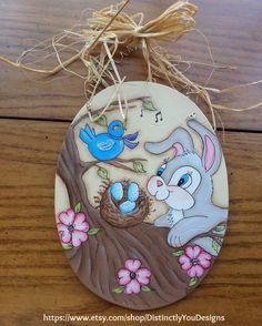 Spring Home Decor, Easter Bunny, Spring Decorations, Easter Decorations, Easter Egg Decorations, Easter Eggs, Handmade, Easter, Flowers