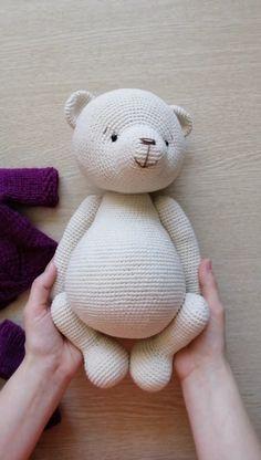 Crochet amigurumi 332140541271463873 - Source by Crochet Bear Patterns, Amigurumi Patterns, Knitting Patterns, Knitted Teddy Bear, Diy Teddy Bear, Stuffed Toys Patterns, Pet Toys, Free Crochet, Crochet Bunny