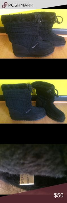 BRAND NEW-Skechers Boots sz9 BRAND NEW Skechers Crochet Boots sz9. Boots are black. These are a fashion boot and not recommend for rain/snow. Item never worn & in perfect condition. I'm not sure if I have the original box. If not I can send them in another box if you like to store them in :) All items stored in & shipped from a smoke-free & pet-free studio. Skechers Shoes Ankle Boots & Booties
