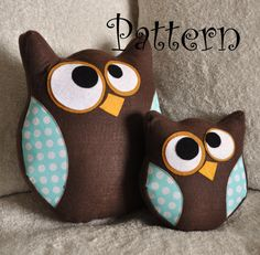 Owl+Pillow+Pattern+Set+Hooter+the+Owl+PDF+Tutorial+and+by+bedbuggs
