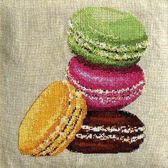 Kit broderie macarons et gourmandises - Catherine MARTINI