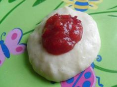 Warm Plum Puree With Banana Cream- another nutritious try out for Ms. texture and food sensitive