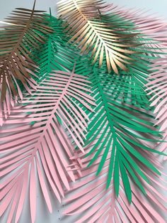 Balloon Arch Diy Discover Paper leaves green leaves leaves cut outs Pack of 5 leaves palm leaves palm leaf tropical leaves Flamingo Party, Flamingo Birthday, Dinosaur Birthday, Paper Flower Backdrop, Paper Flowers, Crepe Paper Streamers, Moana Party, Paper Leaves, Pink Leaves