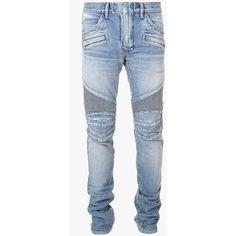 31a3b7b871f19 Balmain Regular-fit denim biker jeans ( 1