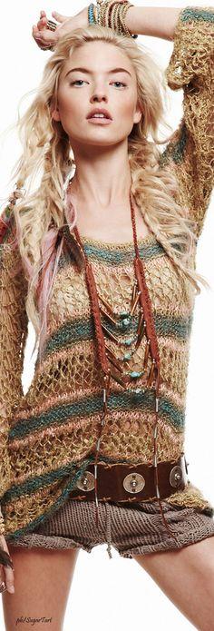Free People - Women's Boho Clothing & Bohemian Fashion ╰☆╮Boho chic bohemian boho style hippy hippie chic bohème vibe gypsy fashion indie folk the Hippie Chic, Hippie Style, Boho Chic, Ethno Style, Gypsy Style, Boho Gypsy, Bohemian Style, Indie Fashion, Trendy Fashion
