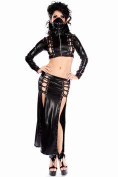 Fantasy Wetlook Leather Outfit Feitsh Vampire Vamp Cyber Goth - Latex, Vinyl & PVC