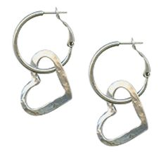 Perfection, this pair of Danon Silver Plated Open Heart Hoop Earrings are the perfect style shake up from Lizzielane.com Was £35 Now Only £26 http://www.lizzielane.com/product/danon-silver-plated-open-heart-hoop-earrings/