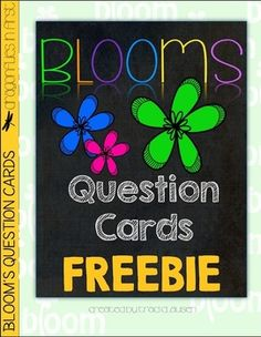 Bloom's Question Cards FREEBIE - Boom's Taxonomy by Teachers Pay Teachers - Free