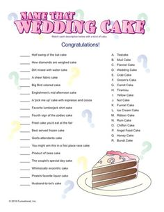 Bridal Shower Games, Invitations and Decorations