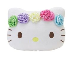 cbc4afa9d5 Hello Kitty 16 Plush Pillow Face Cushion with Garden Flowers     Click  image for