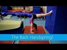 Gymnastics: Tumbling & Flipping: The Back Handspring! Gymnastics Levels, Gymnastics Lessons, Gymnastics Routines, Gymnastics Floor, Gymnastics Tricks, Tumbling Gymnastics, Gymnastics Coaching, Gymnastics Workout, Preschool Gymnastics
