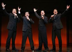 Broadway Welcomes New Jersey Boys - Sebastian Arcelus, Jarrod Spector, Dominic Nolfi and Matt Bogart
