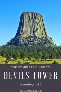 Check out our complete guide to visiting Devils Tower in beautiful Wyoming! We have all the tips you need to know before you visit America's first National Monument. From hiking at Devils Tower, what to do & expect when visiting Devils Tower and more. Usa Travel, Travel Tips, Travel Guides, Travel Advise, Alaska Travel, Alaska Cruise, Food Travel, Travel Stuff, Travel Goals