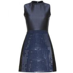 Victoria, Victoria Beckham Embellished Jacquard Dress ❤ liked on Polyvore (see more embellished cocktail dresses)