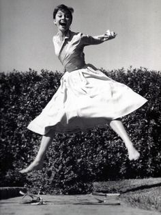 One of my favorite shots of Audrey - a candid moment. Adorable dress <3