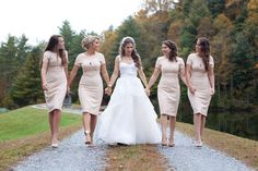 BRIDESMAID DRESSES YAAASSS Rustic Fall Country Wedding in the North Carolina Mountains: Glamour.com