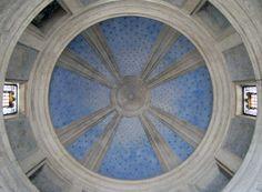 Dome interior, Bramante's Tempietto, ca 1501 in the courtyard of the church of San Pietro in Montorio, Florence.