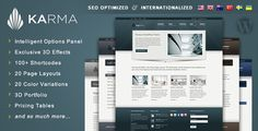 Karma - Clean and Modern Wordpress Theme - ThemeForest Item for Sale $40