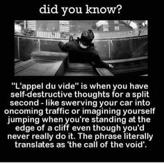 The call of the void - 9GAG