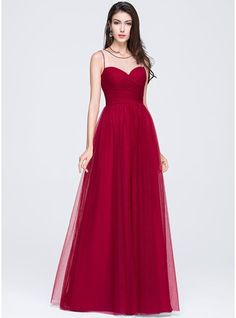 A-Line/Princess Scoop Neck Floor-Length Ruffle Beading Flower(s) Sequins Zipper Up at Side Regular Straps Sleeveless No Burgundy Spring Summer Fall General Plus Tulle Prom Dress