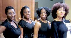 Beautiful ladies with natural hair