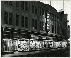 Exterior of Vokins department store. Date not given.