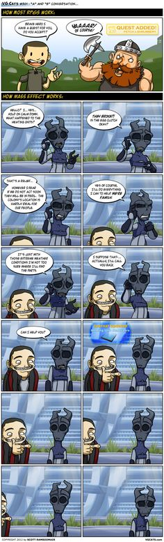 I still find this web comic highly amusing. I totally felt like this while playing mass effect 3!!