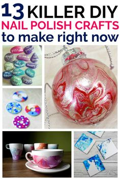 Nail Polish Crafts You Can Make and Clear Out Your Makeup Drawer - Nail Polish . - Nail Polish Crafts You Can Make and Clear Out Your Makeup Drawer – Nail Polish Crafts You Can Ma - Old Nail Polish, Nail Polish Painting, Nail Polish Crafts, Nail Polish Hacks, Nail Polish Storage, Nail Polish Designs, Nail Design, Crafts For Teens To Make, Crafts To Sell