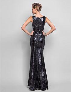 Formal Evening/Military Ball Dress - Trumpet/Mermaid V-neck Floor-length Sequined – USD $ 159.99