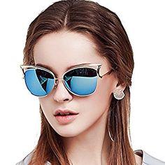 0c275c62bc Amazon.com  BLUEKIKI YEUX Cateye Sunglasses Women Fashion Vintage Glasses  (6066Barbie Pink