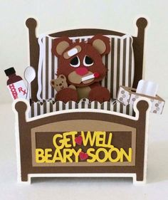 Get Well Bear Card In A Box SVG by MyCasualWhimsy on Etsy naissance part naissance bebe faire part felicitation baby boy clothes girl tips Card In A Box, Pop Up Box Cards, 3d Cards, Local Craft Fairs, Bear Card, Little Presents, Box Patterns, Cool Stuff, Get Well Soon