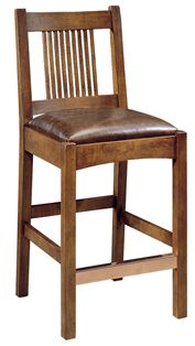 Shop for the Stickley Oak Mission Classics Spindle Bar Stool at Jacksonville Furniture Mart - Your Jacksonville Areas, and servicing Gainesville, Palm Coast, Fernandina Beach Furniture & Mattress Store Mission Furniture, Fine Furniture, Living Room Furniture, Kitchen Stools With Back, Stools With Backs, Craftsman Decor, Craftsman Furniture, 36 Inch Bar Stools, Quality Furniture
