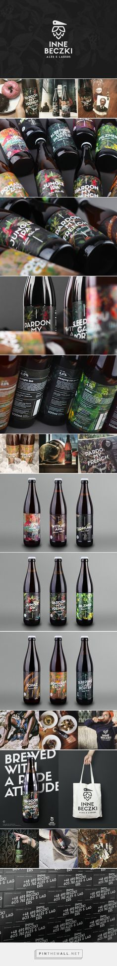 Inne Beczki beer labels designed by Redkroft (Poland) - http://www.packagingoftheworld.com/2016/02/inne-beczki.html