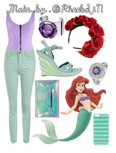 """""""Ariel 7"""" by rheebavn ❤ liked on Polyvore featuring WALL, Sergio Rossi, Lisa Marie Fernandez, Miss Selfridge, Jane Norman, Bling Jewelry, Baccarat and Kate Spade"""