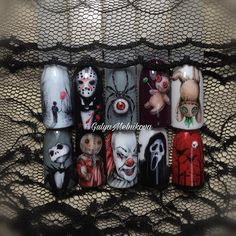 Toe Nail Designs for Halloween Zehennagel Designs für Halloween Shellac Nail Designs, Diy Nail Designs, Shellac Nails, Diy Nails, Cute Nails, Gel Nail, Stiletto Nails, Pretty Nails, Acrylic Nails