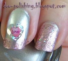 Love the tipped look with glitter