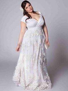 Cheap Simple Plus Size Wedding Dresses