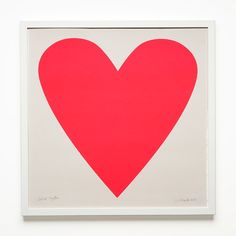 Framed Neon Pink Heart Poster Signed by Banquet Atelier | Unison $140   This would be awesome for Poppy's room