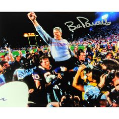 Steiner Bill Parcells Signed Carry Off Blue Sweater 8x10 Photo