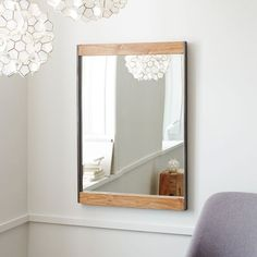 Bathroom mirror - keep the rest of the space clean and crisp and bring your rustic style in with accessories